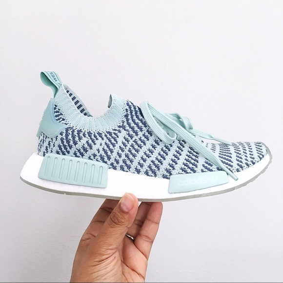 new concept ed52e 7e9f6 Adidas NMD  R1 STLT PK W Ash Green Women s Shoes